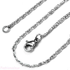 """Fashion Women's 22"""" Long  Silver Stainless Steel Wave Link Unisex Chain Necklace"""
