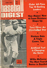 BASEBALL DIGEST  with  Tony Oliva on cover