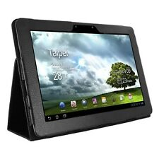 BLACK FOLID STAND PU LEATHER CASE COVER FOR ASUS EEE PAD TRANSFORMER PRIME TF201