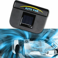 Black Auto Solar Powered Car Vent Window Fan For Vehicle Ventilator Air Cooling