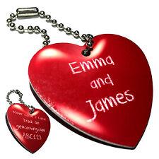 Amour cœur étiquette pour les couples (travel bug) pour geocaching personnaliser avec vos noms