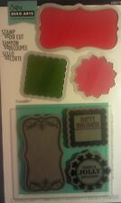 """Sizzix  Hero Arts Framelits Dies & """" HOLIDAY""""  Stamps Tags.."""