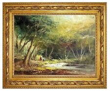 Original Oil on Canvas Painting Forest Fine Art