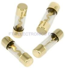 4PCs 80AMP 80A Car AGU Glass Fuse for Audio Subwoofer Amplifier Installation Kit