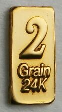 2GRAIN(NOT GRAM) 24K PURE GOLD .999 FINE BENCHMARK STRATEGIC METALS& CERTg31g