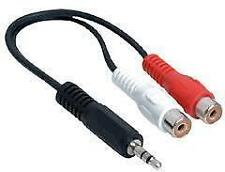 3.5mm Stereo Male To 2 RCA Female Jack Audio Adapter Cable