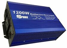 1200w (2400W peak) soft start power inverter modified 1200 watt 12v 220v-240v