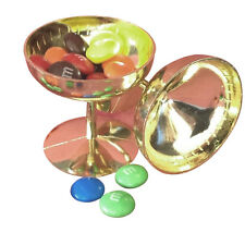 24 Mini Plastic Champagne cups glasses Wedding Shower Favors gold