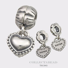 Authentic Pandora Sterling Silver Hanging My Special Sister Bead 791383 *SPECIAL