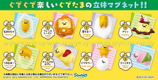 Sanrio Gudetama Pitatto Figure Magnet Complete Box Set - Re-ment h#10