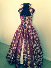 Wine and Gold Renaissance Dress Gown Costume many Sizes Available & more colors!