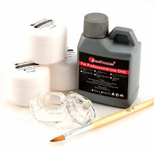Pro Simply Nail Art Kit Acrylic Liquid Powder Pen Dappen dish Tools Set