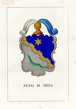 Araldica Stemma araldico della famiglia Petri di Siena