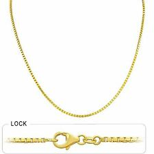 """10.00 gm 14k Solid Gold Yellow Men's Women's Box Necklace Chain 1.70 mm 20"""""""