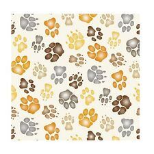 Big Cats - Feline Feet - Ivory by Barbara Keith, cotton quilting fabric
