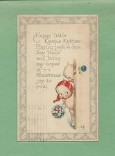 KEWPIES PLAY PEEKABOO Authentic A/S ROSE O'NEILL Vintage 1924 CHRISTMAS Postcard