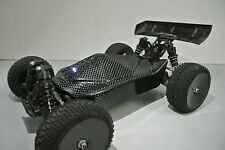 LOSI 1/14 MINI 8IGHT 2XCFL REAL CARBON FIBER STEALTH BODY/REAR SPOILER/LED SET