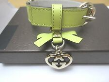 AUTHENTIC Gucci Dog  cat Collar Leather Logo Microguccissima  small