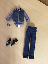 Barbie Ken Doll The Twilight Saga Emmett Outfit Vested Stripe Shirt Pants Shoes