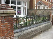 MALMESBURY WROUGHT IRON METAL FENCING RAILING PANELS MADE TO ORDER HEAVY WEIGHT