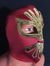 RED/GOLD MISTICO WRESTLING-LUCHADOR MASK! Awesome Design!! GREAT HANDMADE MASK!!
