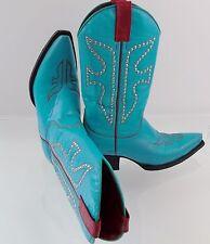 Frye Daisy Duke Women's Western Cowboy Boots 77780 Sz 6 Studded Turquoise Red