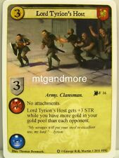 A Game of Thrones LCG - 1x Lord Tyrion's Host #016 - Ice and Fire Draft Pack