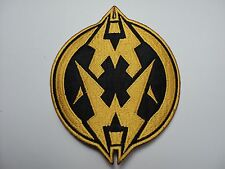 MUNICIPAL WASTE ROUND  YELLOW  EMBROIDERED PATCH
