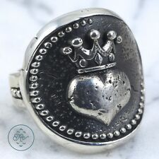Sterling Silver - KING BABY STUDIO Queen Crowned Heart - Ring (10)