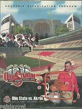 Ohio State 2001 Program Jim Tressel 1st OSU Game  With 2 Ticket Stubs vs Zips