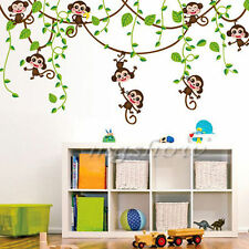 Monkey Climb Tree Animal Baby Kids Bedroom Nursery Decor Wall Sticker Decal DIY