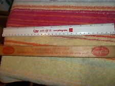 TWO 12 INCH COCA COLA RULERS VINTAGE OLD WOOD ADDS LIFE TO EVERYTHING NICE DRINK