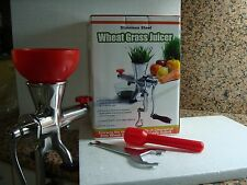 Brand New fully stainless manual  wheatgrass juicer