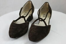 Women's So Soft 9.2.5 Brown Slip on Suede Leather Heels Pumps Shoes 8M -Heather