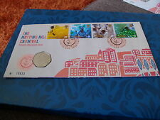 SCARCE 50p THE NOTTING HILL CARNIVAL COIN  COVER - 25 AUG 1998 L/E 18633
