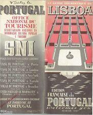 Le Guide Touristique de Lisboa Édition Française du Portugal 1957 / Lissabon