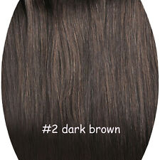 14''-30'' 100% Real Remy Human Clip In Hair Extensions STOCK FULL HEAD 70G-160G