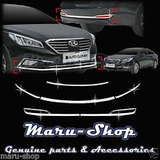 Chrome Front/Rear Bumper/Reflex Lens Cover Trim for 15+ Hyundai Sonata ECO, SE
