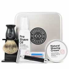 Executive Shaving Company Noir Shaving Brush, Cream and Muhle Razor Gift Set