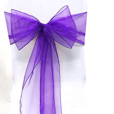 1Pcs Organza Chair Cover Sash Bow Wedding Party Reception Banquet Decor Bow A05