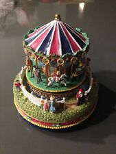 liberty falls village carousel music box 1997 the carousel comes to town