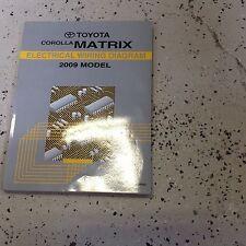 2009 Toyota Corolla Matrix Electrical Wiring Diagram Shop Repair Manual OEM EWD