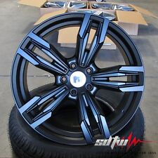 "18"" BMW Style 433 Wheels Matte Black fits 1 2 3 4  328 Series M5 Sport Rims"