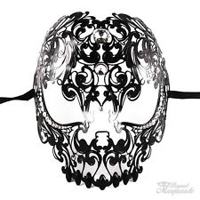 Full Face Light Metal Skull - Day of the Dead Masquerade Mask - Exquisite Skull