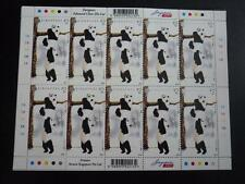 Singapore Giant Pandas Stamp Sheet $2 x 10 stamps 2012