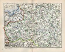 Landkarte map 1908: WESTRUSSLAND Russland. Europa. Königreich Polen bis 1866.