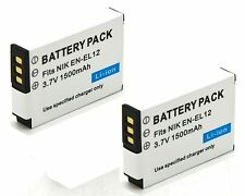 2x Battery for Nikon Coolpix AW100 AW100s AW110 AW110s AW120 AW120s AW130 AW130s