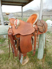"""Wade type Ranch Saddle, Hand made by Randy Hansen, 15 1/2"""" Seat"""