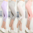 Womens Crop 3/4 Length Leggings Capri Cropped Summer Modal High Quality pants