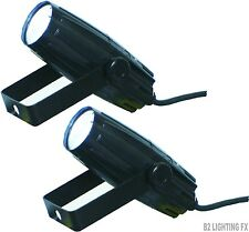 SEE VIDEO! - Lot of 2 - MINI FOLLOW SPOT LIGHT Key Note Seminar Speakers Stage